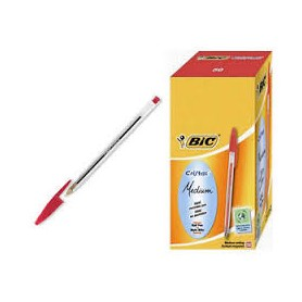 BIC PENNE SF CRISTAL PMED ROSSO CF.50