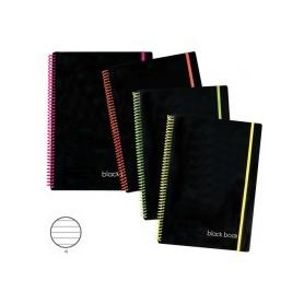 BLOCCHI SPRIRAL BLACK BOOK A5+M80FF 1R