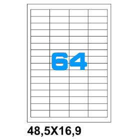 ETICHETTE ADES.FOGLIO SINGOLO 48,5X16,9