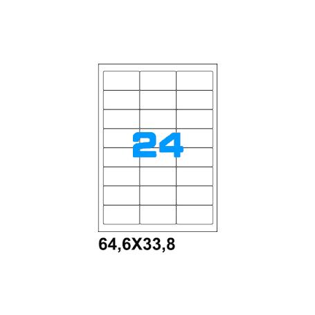 ETICHETTE ADES. FOGLIO SINGOLO 64,6X33,8