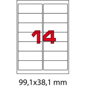 ETICHETTE ADES.FOGLIO SINGOLO 99,1X38,1