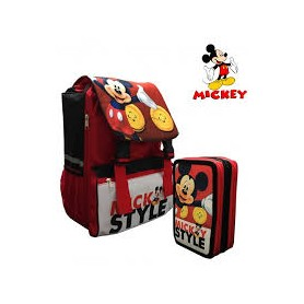 SET ZAINO +PLUMIER 3 ZIP MICKEY