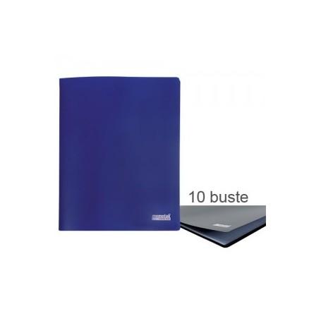 PORTA LISTINI MEMOTAK BASIC 10 BUSTE BLU