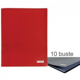 PORTA LISTINI MEMOTAK BASIC 10 BUSTE RED