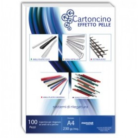 CARTONCINO SIMILPELLE A4 230GR RED 100FF