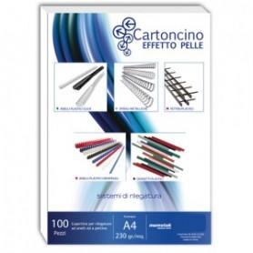 CARTONCINO SIMILPELLE A4230GR 100PZ BK