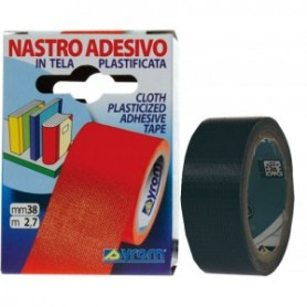 NASTRO ADESIVO TELATO 38X25 NERO TESA