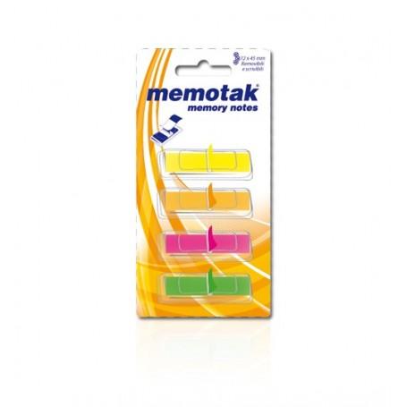 SEGNAPAGINE MEMOTAK 12X45 40FF X 4 COLOR