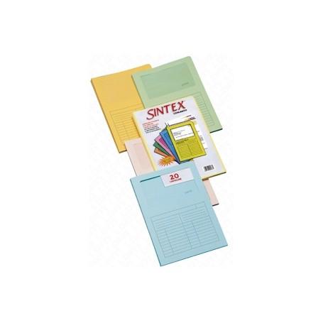 CARTELLINE SINTEX/20PZ COL MIX