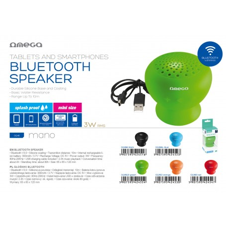 OMEGA SPEAKER SPLASH RES. BLUETOOTH 3.0
