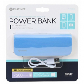 POWER BANK ( IN PELLE BLU ) 2600MAH BLU