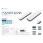 POWER BANK ( IN PELLE BIANCA) 2600MAH