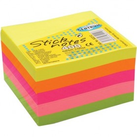 STICK NOTES 76X76 MM 400FF C.NEON