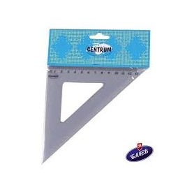 TRIANGLE RULER 45X13CM PVC PACKING