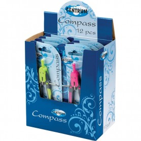COMPASS PLASTIC W/LEADS 150MM/BLISTER