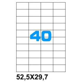 ETICHETTE ADES. FOGLIO SINGOLO 52,5X29,7