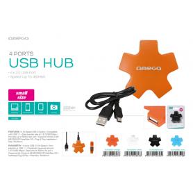 OMEGA USB 2.0 HUB 4 PORT STAR WHITE