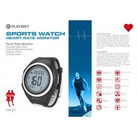 PLATINET SPORTWATCH/HEART  MONITOR PINK