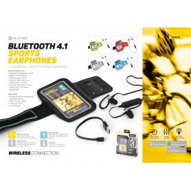 PLATINET BLUETOOTH EARPHONESPORT BLUE