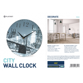 PLATINET ZEGAR/WALL CLOCK/CITY