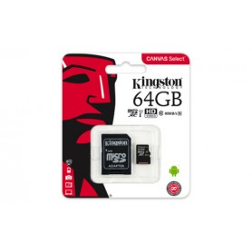 KINGSTON CANVAS MEM CARD MICROSD 64 GB