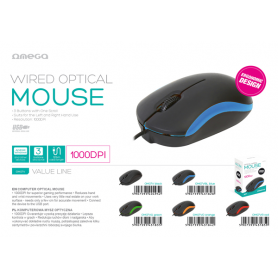 MOUSE OMEGA 3D OPTICAL 1000DPI BLU