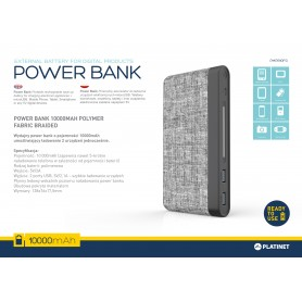 PLATINET POWER BANK 10000MAH POLYMER