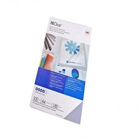 COPERTINE PVC 180 MICRON 100PZ  GBC