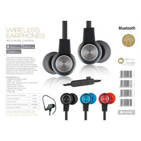 BLUETOOTH V4.2+MICROSD EARPHONE+MIC BK