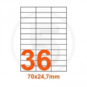 ETICHETTA FOGLIO SINGOLO 70X24.7 CF100P