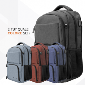 TECHMADE ZAINO TECHBAG-O-GRAY GRIGIO