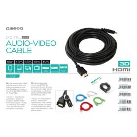 OMEGA KABEL HDMI V.1.4.1.5M BULK RED