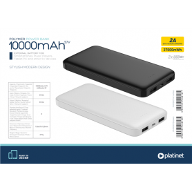 PLATINET POWERBANK 10000M/AH PORTABLE BK