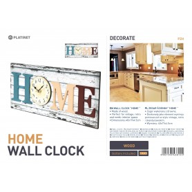 PLATINET ZEGAR WALL CLOCK/HOME