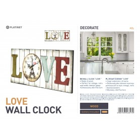 PLATINET ZEGAR WALL CLOCK/LOVE