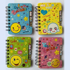 NOTE BOOK 120X92MM 50SH SPIRAL SMILE