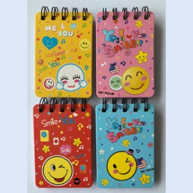 NOTE BOOK 105X70MM 55SH SPIRAL SMILE