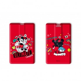 PENDRIVE CARD MICKEY&MINNI RED 32GB