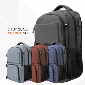 TECHMADE ZAINO TECHBAG-O-RED ROSSO