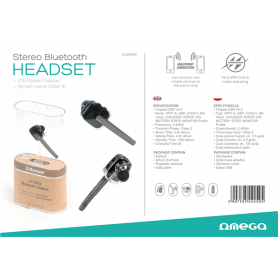 OMEGA EARPHONES BLUETOOTH R600 V4.0 BK