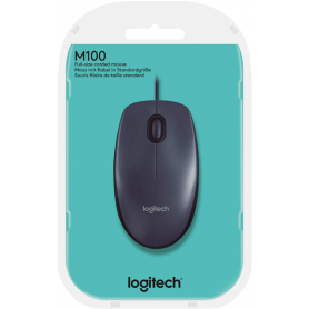 LOGITECH MOUSE OTTICO M100 USB NERO