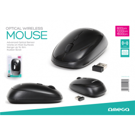 OMEGA MOUSE WIRELESS 2.4GHZ 800-1600DPI