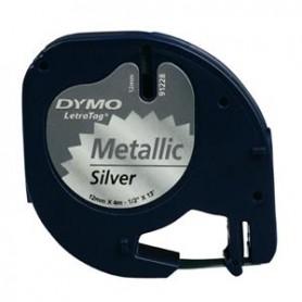 DYMO LT 12 MM X 4 M NERO/ARGENTO