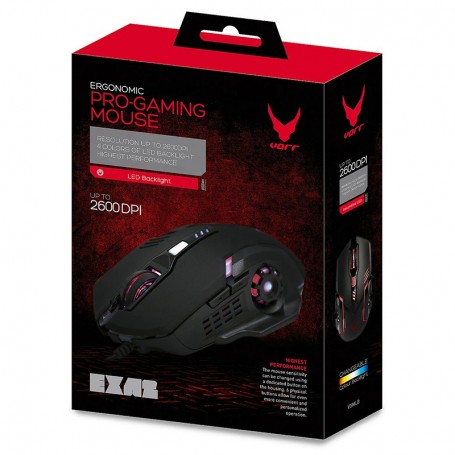 VARR GAMING MOUSE EXA2 6D LED 2600DPI BK