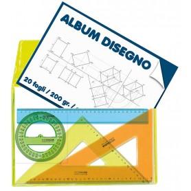 SET DIS.4PZ CM 30 B.PORTA ALBUM KC FLUO